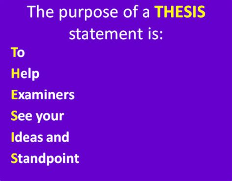 Developing a Thesis Statement Writing Associates